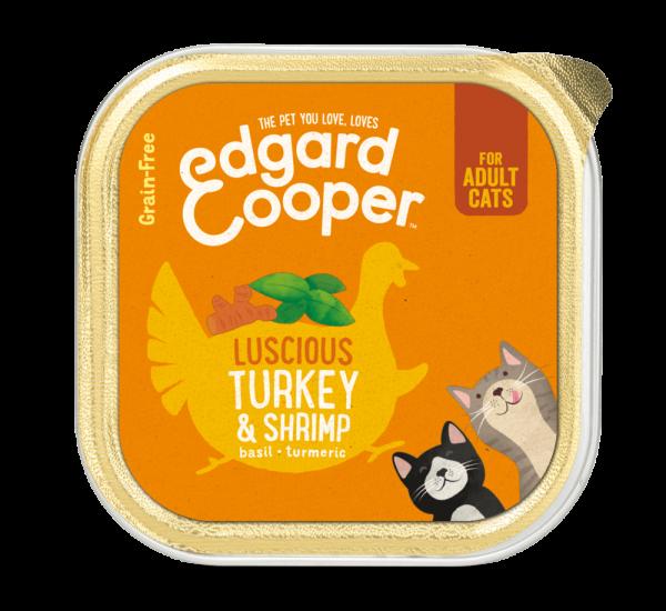 Edgard Cooper cat food 85g turkey and shrimp