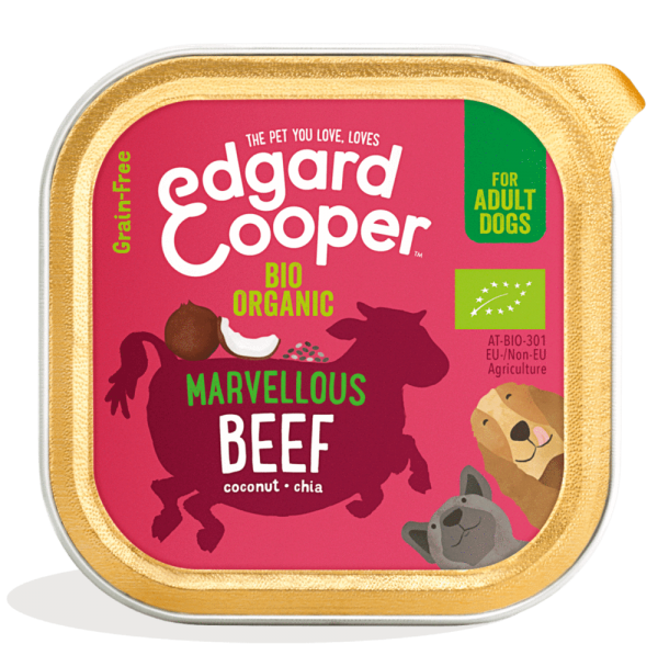 Edgard Cooper bio organic dog food - beef