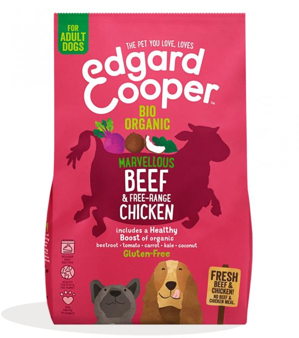 Edgard Cooper organic beef and chicken kibble