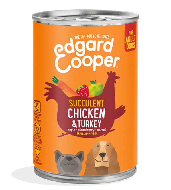 Edgard Cooper dog food chicken turkey 400g