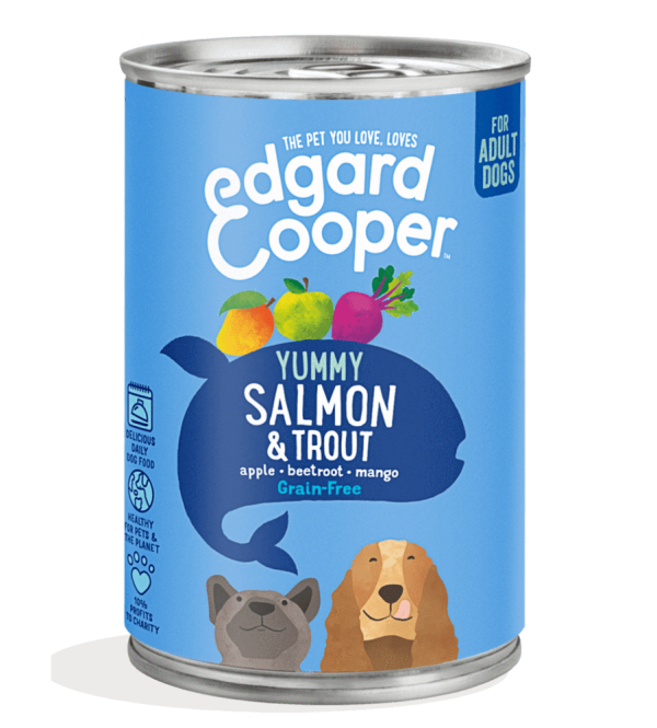 Edgard Cooper salmon trout dog food 400g