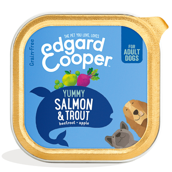 Edgard Cooper 150g tray salmon trout dog food