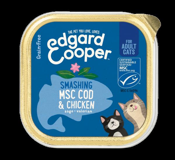 Edgard Cooper cat food 85g cod and chicken