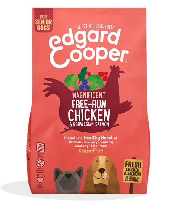 Edgard Cooper senior adult chicken and salmon kibble
