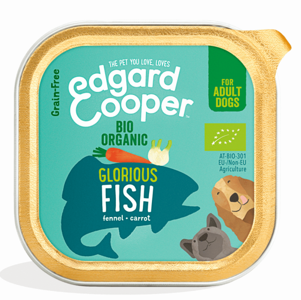 Edgard Cooper bio organic dog food - fish