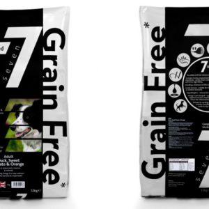 7 grain free dog food duck and orange packet