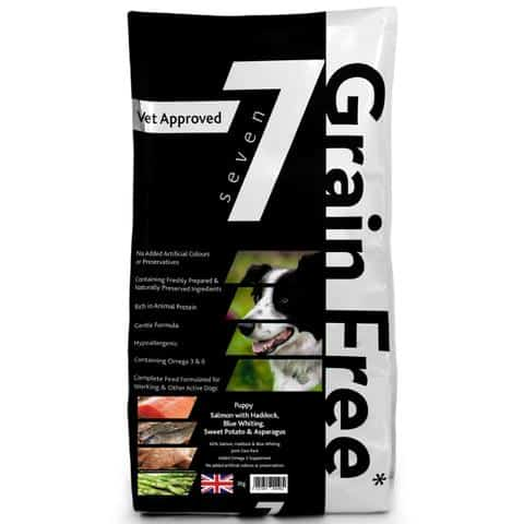 Seven grain free puppy food salmon haddock & blue whiting pack