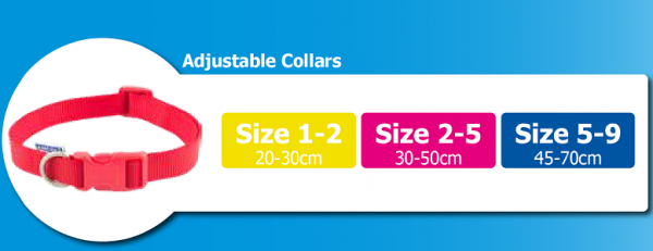 Ancol adjustable collar size guide
