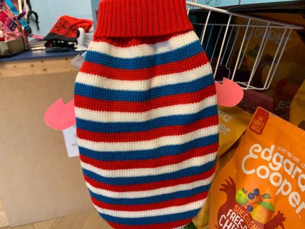 Urban Pup red, white and blue striped sweater